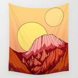 The Mountains of the red planet Wall Tapestry