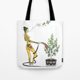 Rainbow Weed Babe - Higher Life Tote Bag