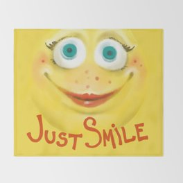 Just Smile :) Throw Blanket