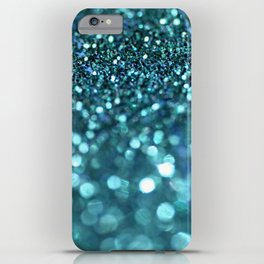 turquoise glitter trail iPhone Case