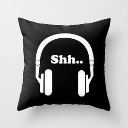 Headphones and music Throw Pillow