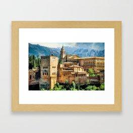 A very beautiful city Framed Art Print