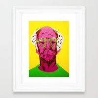 larry david Framed Art Prints featuring Larry David 3 by Alyssa Underwood Contemporary Art