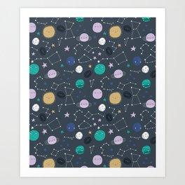 Stars and Planets Art Print