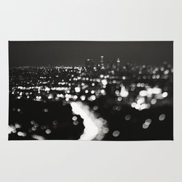 Los Angeles cityscape. L.A. Noir Rug