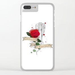 Shakespeare Quote (Flower and Serpent) Clear iPhone Case