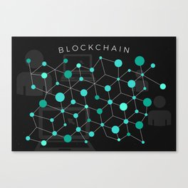 Cool Bitcoin crypto currency block chain Canvas Print