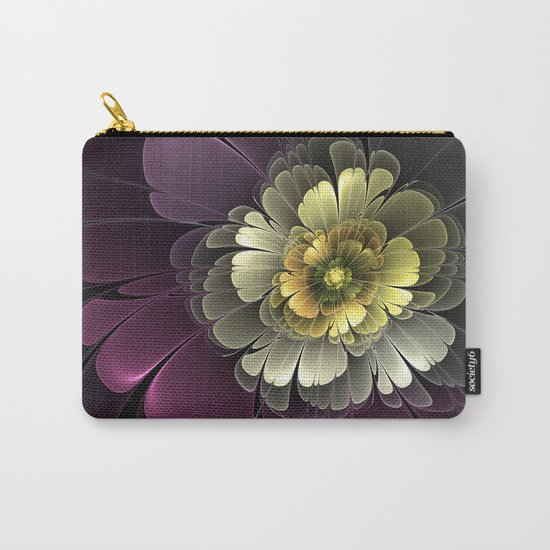 Abstract Flower Fractal Carry-All Pouch
