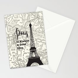 Paris is Always a Good Idea - Vintage Map Stationery Cards