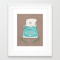 typewriter Framed Art Prints featuring typewriter by WreckThisGirl