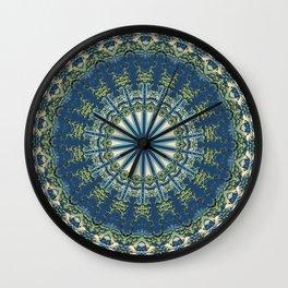 Hokusai Inspired Kaleidoscope Pattern-Japanese Ukiyo-e Style Wall Clock