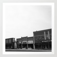 Small-Town Love Art Print