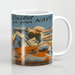 Vintage Navy Enlistment Poster Coffee Mug