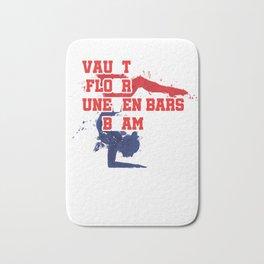Vault Love Vaulting Gymnastics Gymnast Dancing Balancing Acrobats Gifts Bath Mat