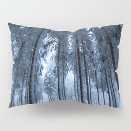 Snowy Winter Trees - Forest Nature Photography Pillow Sham