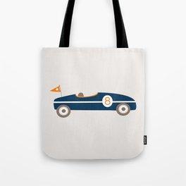 Soapbox Derby Blue Car Tote Bag