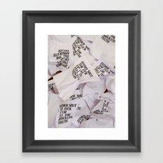 Absolute Framed Art Print