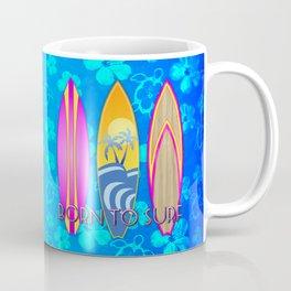 Born To Surf Blue Honu Coffee Mug