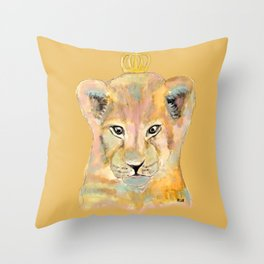 Born to be king Throw Pillow