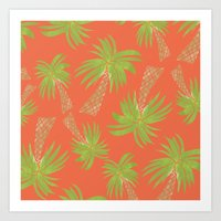 palm trees Art Prints featuring Palm Trees by Allyson Johnson