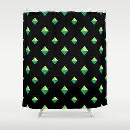 Emerald Diamonds Shower Curtain