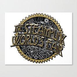 The Steampunk Worlds Fair Logo Poster Canvas Print