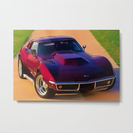 1969 427 Stingray Vette Big Block in Candy Apple Red Metal Print