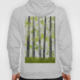 Trees, herbs and leaves in the forest Hoody