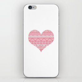 Patterned Valentine iPhone Skin