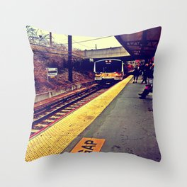 Here We Go Throw Pillow