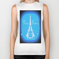 france Biker Tanks featuring Paris France by WhimsyRomance&Fun