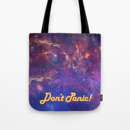 Don't Panic! in Friendly Yellow Tote Bag