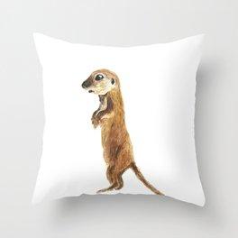cute little otter Throw Pillow