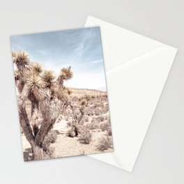 Cactus Closeup // Dusty Blue Sky Desert Landscape Yellow Tan Southwest Vibes Stationery Cards