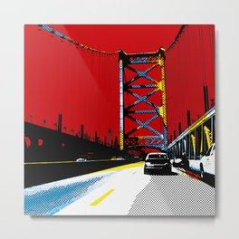 Ben Franklin Bridge #1 Metal Print
