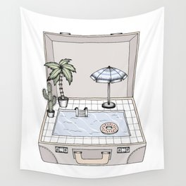 Pool To Go Wall Tapestry