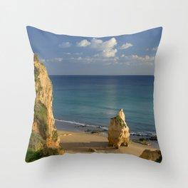 Praia da Rocha, Algarve, Portugal Throw Pillow