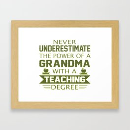 Grandma Teacher Framed Art Print