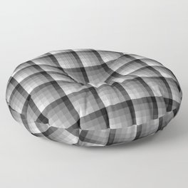 Shades Of Grey Pallete Square Tile Pattern Floor Pillow