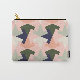 Retro pattern geometric Carry-All Pouch