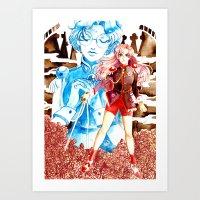 utena Art Prints featuring Utena by Pia PB