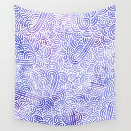 Lavender and white swirls doodles Wall Tapestry