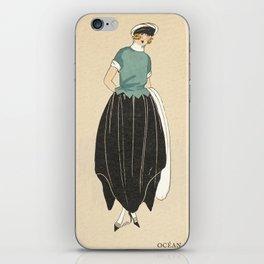 1920s Women's Fashion Plate - Ocean - Nautical iPhone Skin