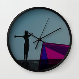 Prey for Sun Wall Clock