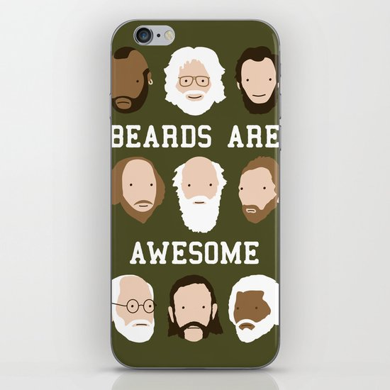 Beards Are Awesome iPhone & iPod Skin