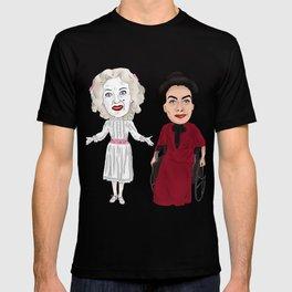 Whatever Happened to Baby Jane, Bette Davis, Joan Crawford Inspired Illustration T-shirt