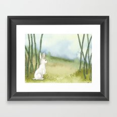 Bunny in the Bamboo Framed Art Print