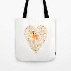 Fawn Valentine Tote Bag