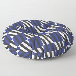 Pop Art Thin Blue Lines Floor Pillow
