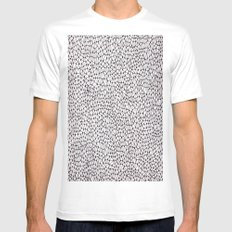 trippy White Mens Fitted Tee MEDIUM